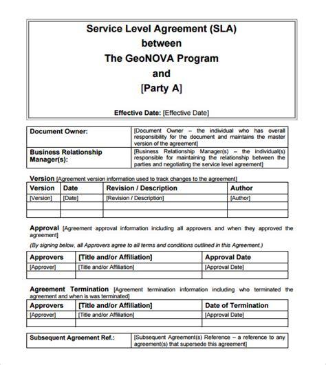sla template 13 service level agreement sles sle templates