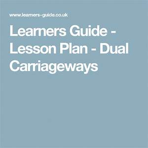 Learners Guide - Lesson Plan