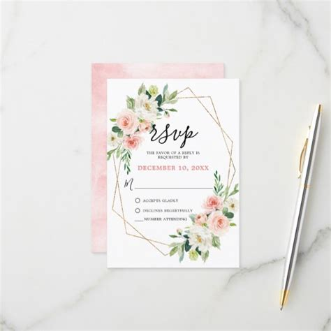 Create your own Response Card Zazzle com Rsvp wedding