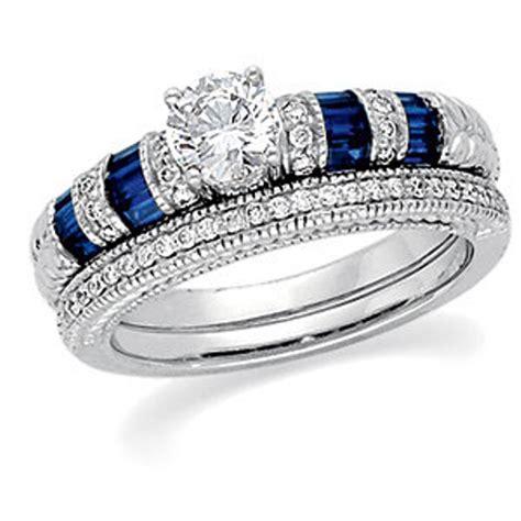 Stuller Diamond and Sapphire Engagement Ring
