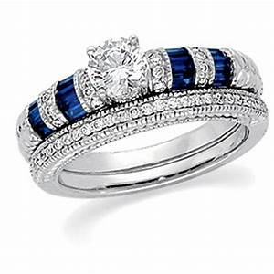 Jewelry by the brilliance of the jewelry hut fancy for Sapphire engagement ring and wedding band set