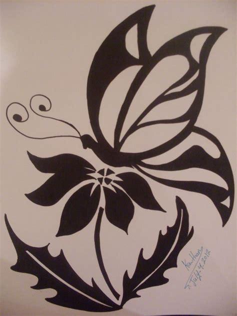 tribal drawings  roses tribal butterfly  flower