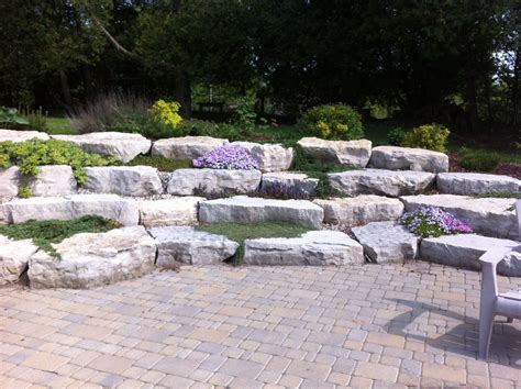 Our Armour Stone Wall At The Cottage! Interlock With Large