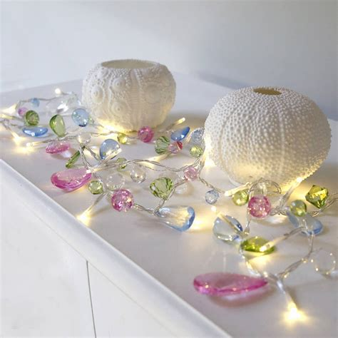 pastel crystal light garland by red lilly