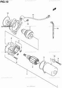 Suzuki Atv 2001 Oem Parts Diagram For Starting Motor