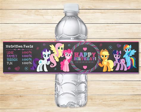 my pony drink label chalkboard by partyprintables37
