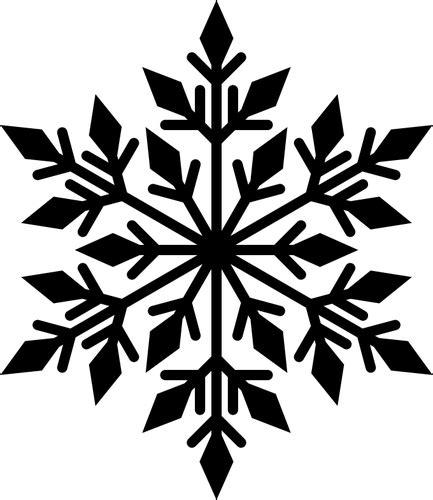 Cetakan Salju Frozen Stencil black snowflake silhouette domain vectors