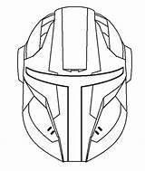 Mandalorian Helmet Armor Blank Drawing Drawings Imgur sketch template