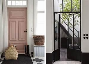 soigner la decoration de son entree blueberry home With porte d entrée pvc avec meuble de salle de bain style retro
