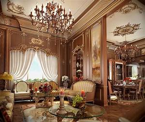 Architectural, Classic, Living, Room, 3d