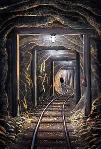 Mine Shaft Mural by Frank Wilson