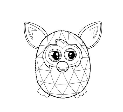 furby coloring pages    print