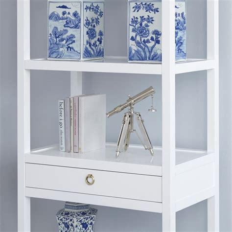 White Etagere Bookcase by Bungalow 5 Newport Etagere White Bookcases Storage