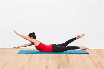 Pilates Swimming Mat Exercise Exercises Yoga Fitness
