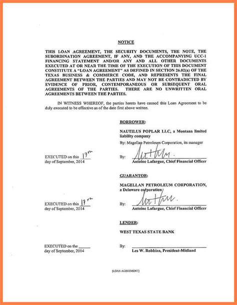 intercompany loan agreement sample company letterhead