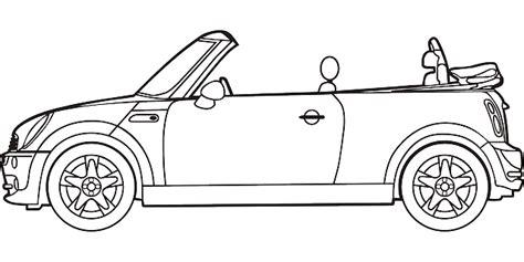 cartoon car black and white black outline drawing car white cartoon bmw line