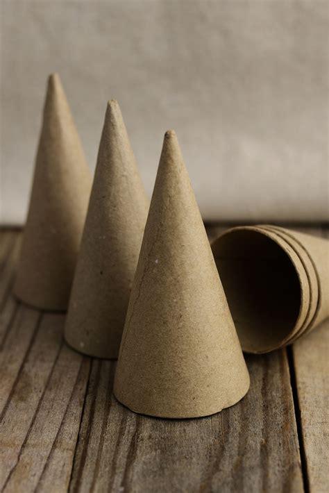 small paper mache cones    paper mache cone
