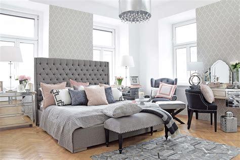 schlafzimmer weiß grau master bedroom schlafzimmer in grau rosa looks