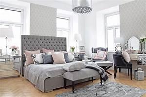 Schlafzimmer Rosa Grau : master bedroom schlafzimmer in grau rosa looks ~ Frokenaadalensverden.com Haus und Dekorationen