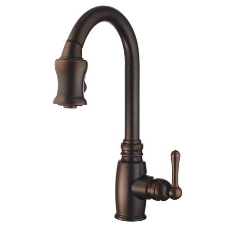 2 handle pull kitchen faucet shop danze opulence tumbled bronze 1 handle pull