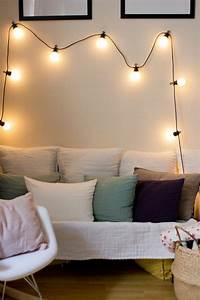 Guirlande Lumineuse Salon : 1001 id es pour une guirlande lumineuse pour chambre d co chambre cocoon ~ Melissatoandfro.com Idées de Décoration