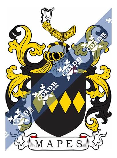 Mapes Arms Crest Coat History Shield Coadb