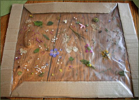 easy framed nature collage fun family crafts