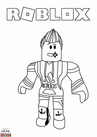 Roblox Coloring Avatar Drawing Draw Printable Colorear