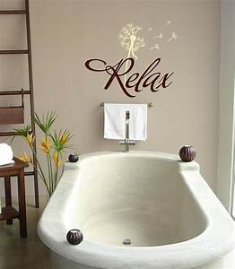 relax with dandelion bathroom vinyl lettering wall words With bathroom vinyl lettering wall art