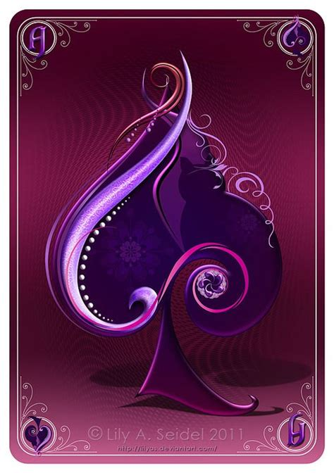 purple spade  images playing cards art purple