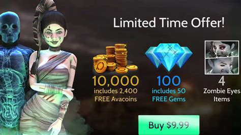 avakin eyes rare zombie offer
