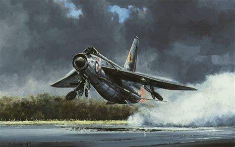 aviation art rondot michael lightning thunder