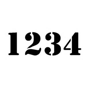 House Number Stencil Fonts