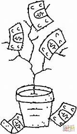 Coloring Money Tree Printable Soldi Geldbaum Colorare Disegni Sheets Ausmalbild Ausmalbilder Disegno Clipart Wedothings Kategorien sketch template