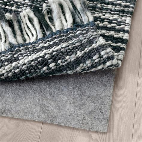 koepenhamn teppich flach gewebt handarbeit dunkelgrau ikea