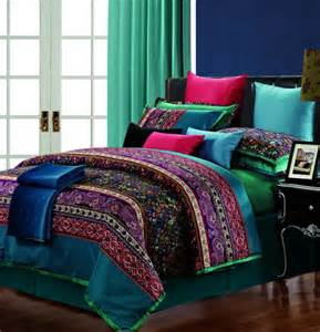 luxury egyptian cotton paisley comforter bedding set for king queen size silk duvet cover bed in