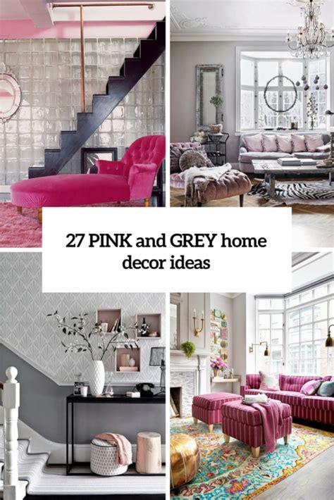 metallic grey  pink  trendy home decor ideas digsdigs