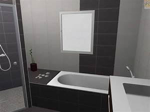 Carrelage Noir Salle De Bain : beau carrelage noir brillant avec carrelage salle de bain ~ Dailycaller-alerts.com Idées de Décoration