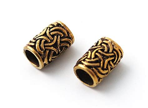 bronze norse viking celtic beard beads rings dwarven