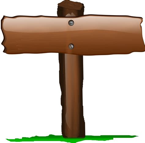 wood fence post clipart wood sign