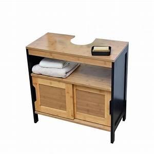 Meuble Dessous De Lavabo : meuble dessous lavabo phuket noir meuble de salle de bain eminza ~ Melissatoandfro.com Idées de Décoration