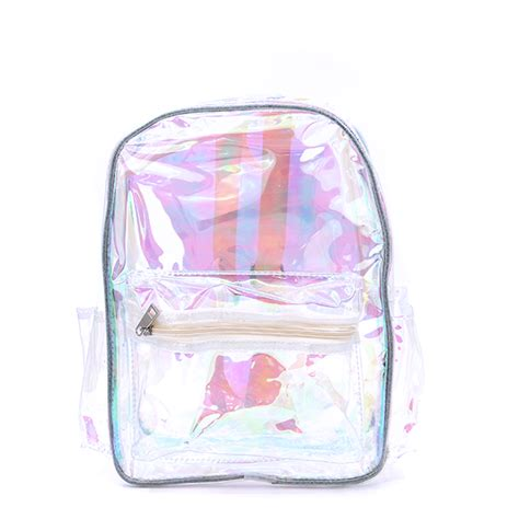 backpack ubp  iridescent transparent clear yellow
