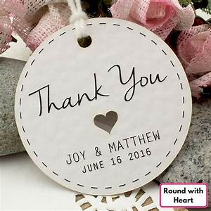 personalized white wedding favor thank you gift tags With personalized thank you tags for wedding favors