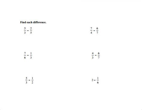 vertical subtraction worksheets sle vertical