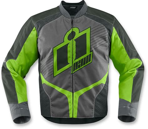 green motorcycle jacket icon overlord mens green textile motorcycle riding jacket