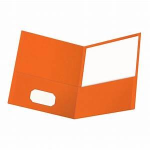 oxford twin pocket folder letter size orange With folder letter