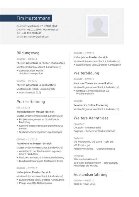 Lebenslauf Aufbau by Moderne Lebenslauf Vorlage In Blau Mit Zweispaltigem