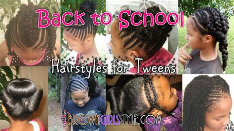 Pre-teen Tween Back To School Natural Hairstyles For Girls