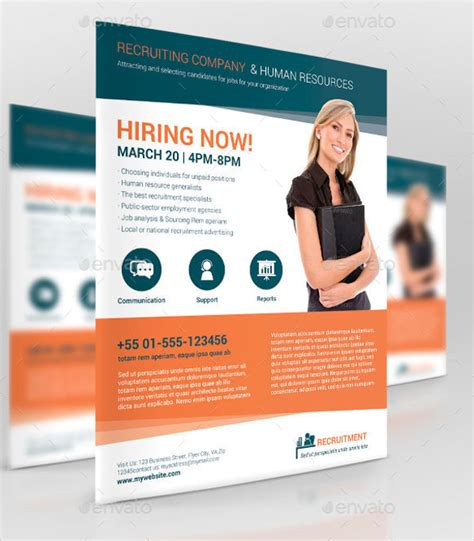 Recruiting Brochure Template by 11 Recruitment Flyer Templates Free Psd Ai Eps Format