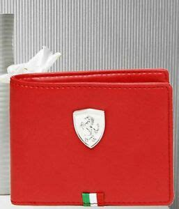 Securely store cash, various cards and licenses as well as other small personal belongings. BRAND NEW AUTHENTIC PUMA FERRARI RED BI-FOLD LEATHER MEN'S WALLET   eBay